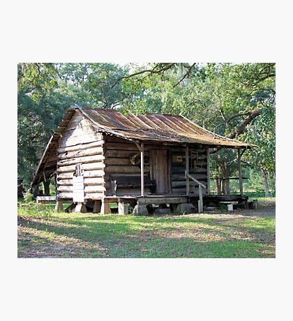 Country Folks Cabin Photographic Print