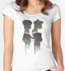 Demon Days Album Cover Women's Fitted Scoop T-Shirt