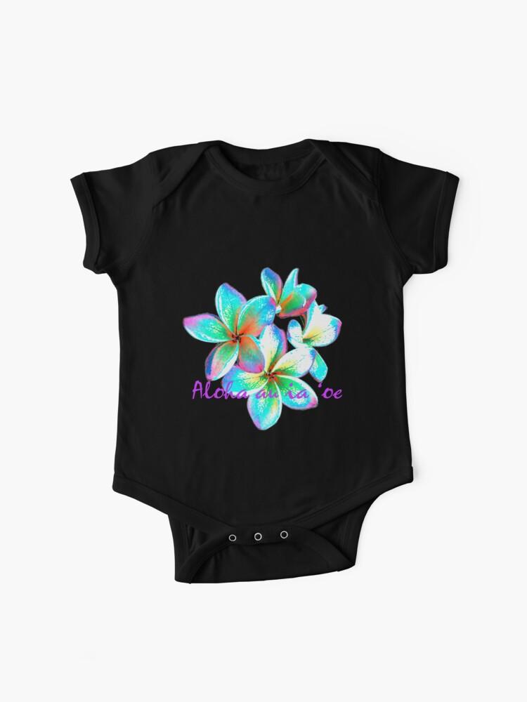 I love you in Hawaiian, Hawaiian Flower   Baby One-Piece