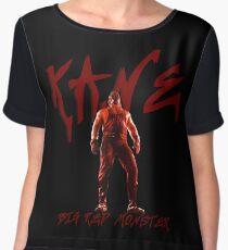 Big Red Monster   Kane Chiffon Top
