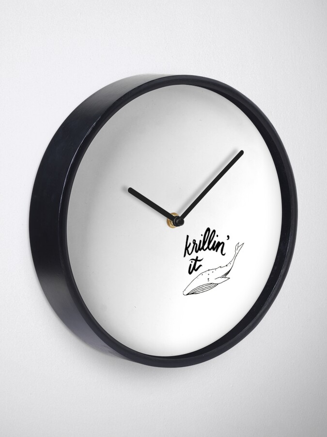 Alternate view of Krillin' It Clock