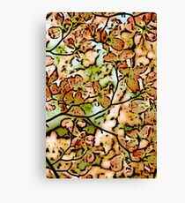 Blossom faded ink Canvas Print