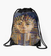 King Tuts Golden Mask Drawstring Bag