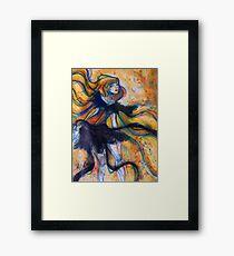 Ribbon Lady Framed Print
