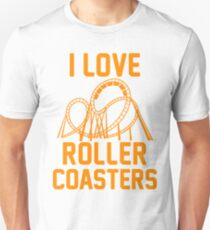 I Love Roller Coasters Unisex T-Shirt