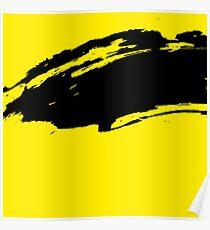 Yellow Modern Grunge Brush Pattern Design Poster