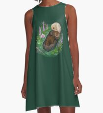 Sea Otter Mother & Baby A-Line Dress