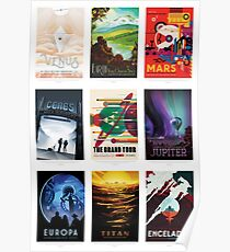 NASA JPL Space Tourism collage: The Grand Tour of the Solar System Poster