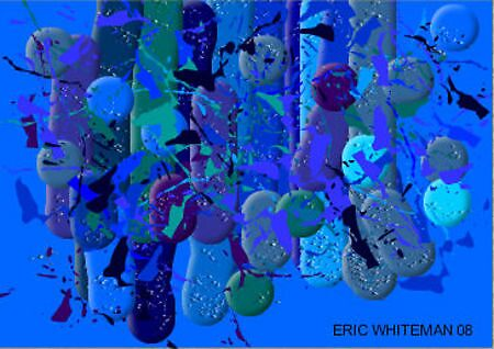 ( BLUE RAIN ) ERIC WHITEMAN ART  by eric  whiteman