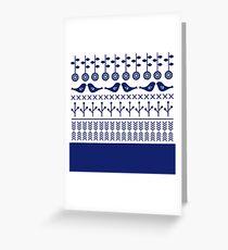 Beautiful Old Fashion Slovak / Scandinavian Design Greeting Card