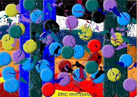 ( WILL THE MADNESS GO AWAY ( BE HAPPY ) ERIC WHITEMAN  ART by eric  whiteman