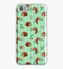Red Panda Apple Cherry Pattern iPhone Case/Skin