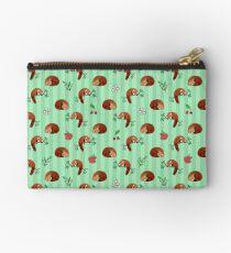 Red Panda Apple Cherry Pattern Studio Pouch