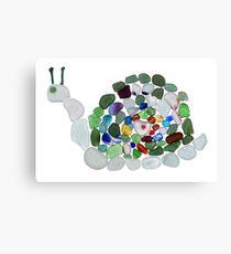 Sea Glass Snail Canvas Print