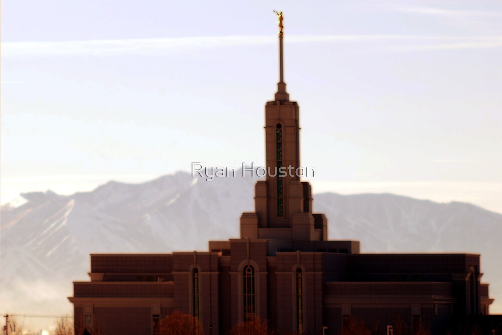 Mount Timpanogos - LDS Temple by Ryan Houston