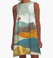 Night Fog A-Line Dress