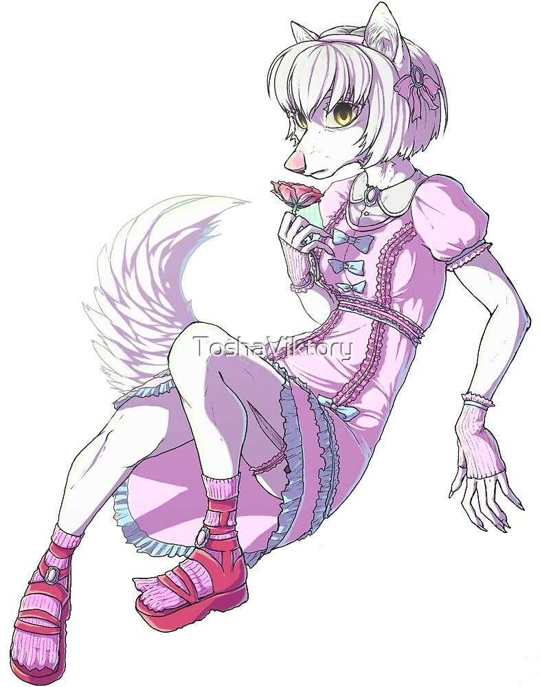 Whitey wolf by ToshaViktory