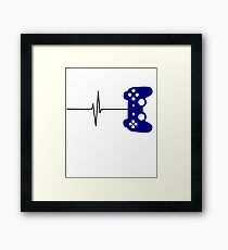 The Heartbeat of a Gamer - Gaming Design Framed Print