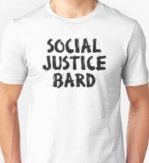 SOCIAL JUSTICE BARD (Black) - Dungeons & Dragons Unisex T-Shirt