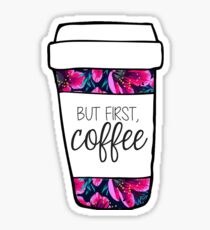 But First, Coffee Tropical Mug Sticker