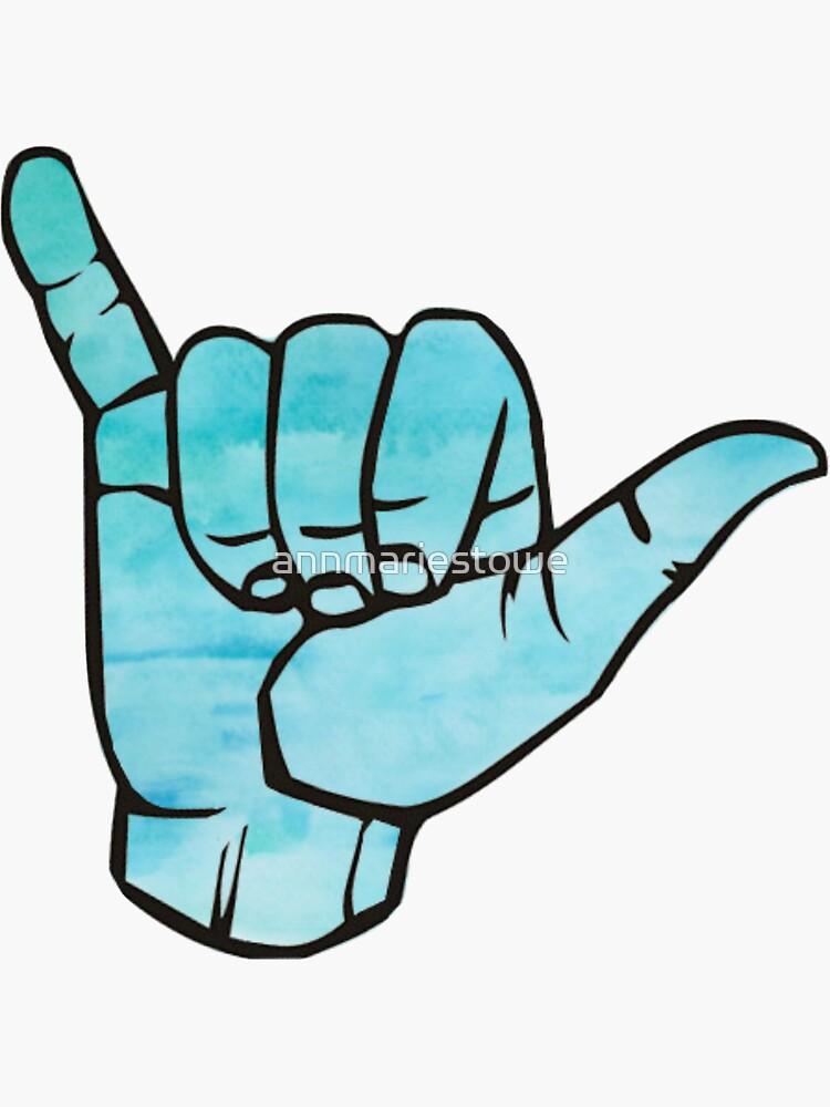 Acuarela azul colgar suelta de annmariestowe