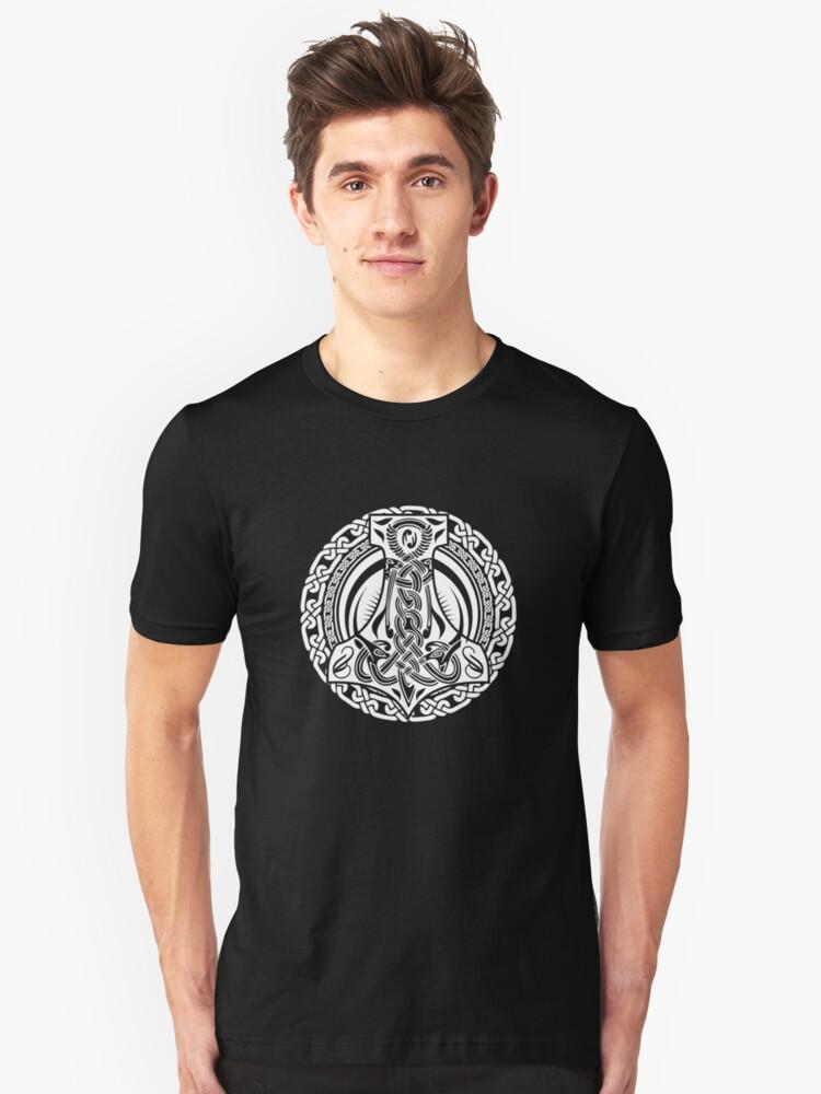 Thors Hammer / Wikinger / Vikings / White Unisex T-Shirt Front
