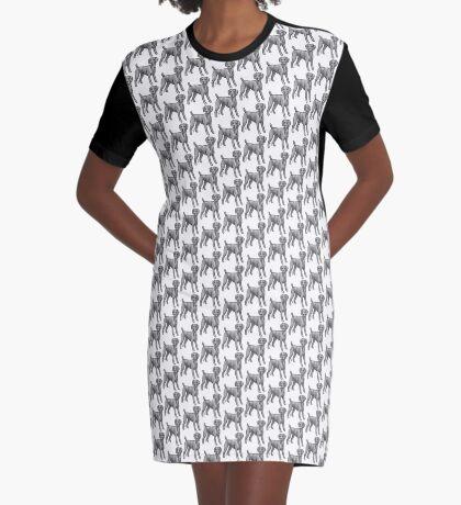 Weimaraner Graphic T-Shirt Dress