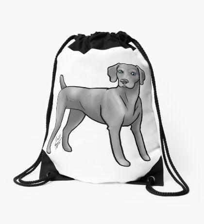 Weimaraner Drawstring Bag