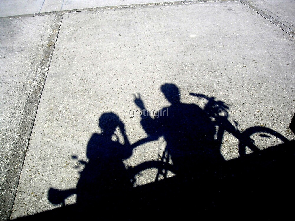 BIKES SILHOUETTE by gothgirl
