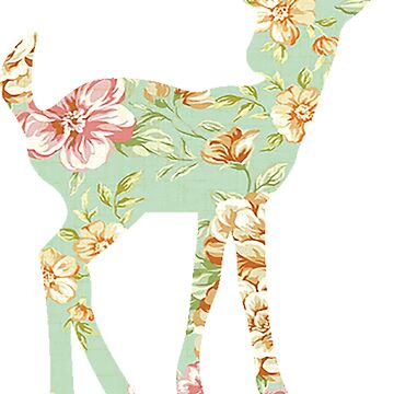 Floral Fawn by thecatswhisper