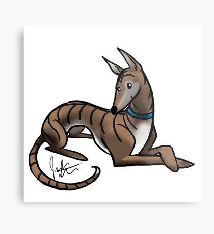 Greyhound - Dark Brindle Metal Print