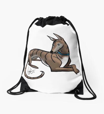 Greyhound - Dark Brindle Drawstring Bag