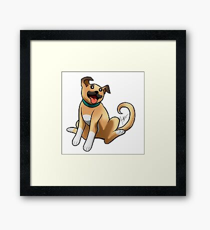 Boxer Mix Framed Print