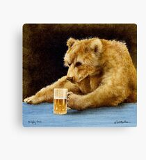 Will Bullas print / grizzly beer... Canvas Print