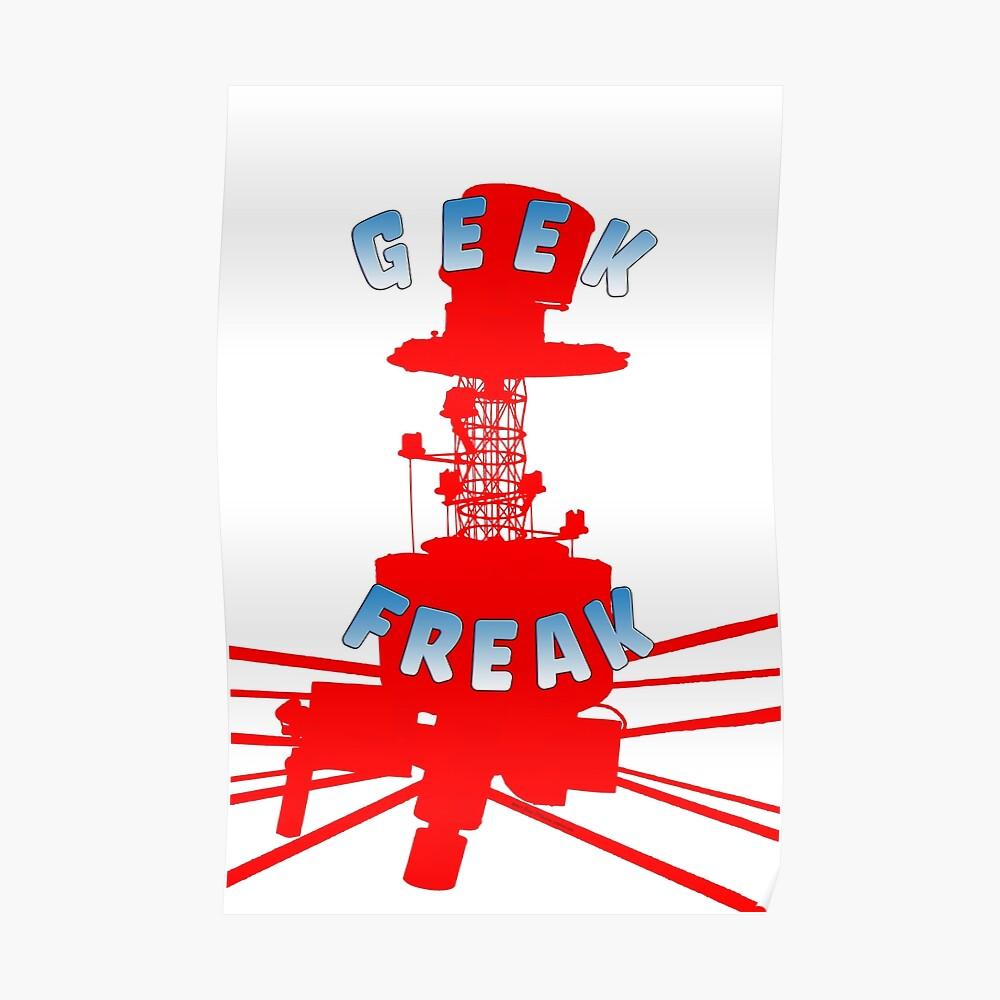 Geek Freak Astro Hacker Logo Poster
