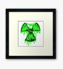 Melting Nuclear Symbol 2 Framed Print