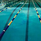 Pool in Blue Tones with Lines by Buckwhite