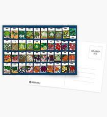 Gemüsesamen-Muster Postkarten