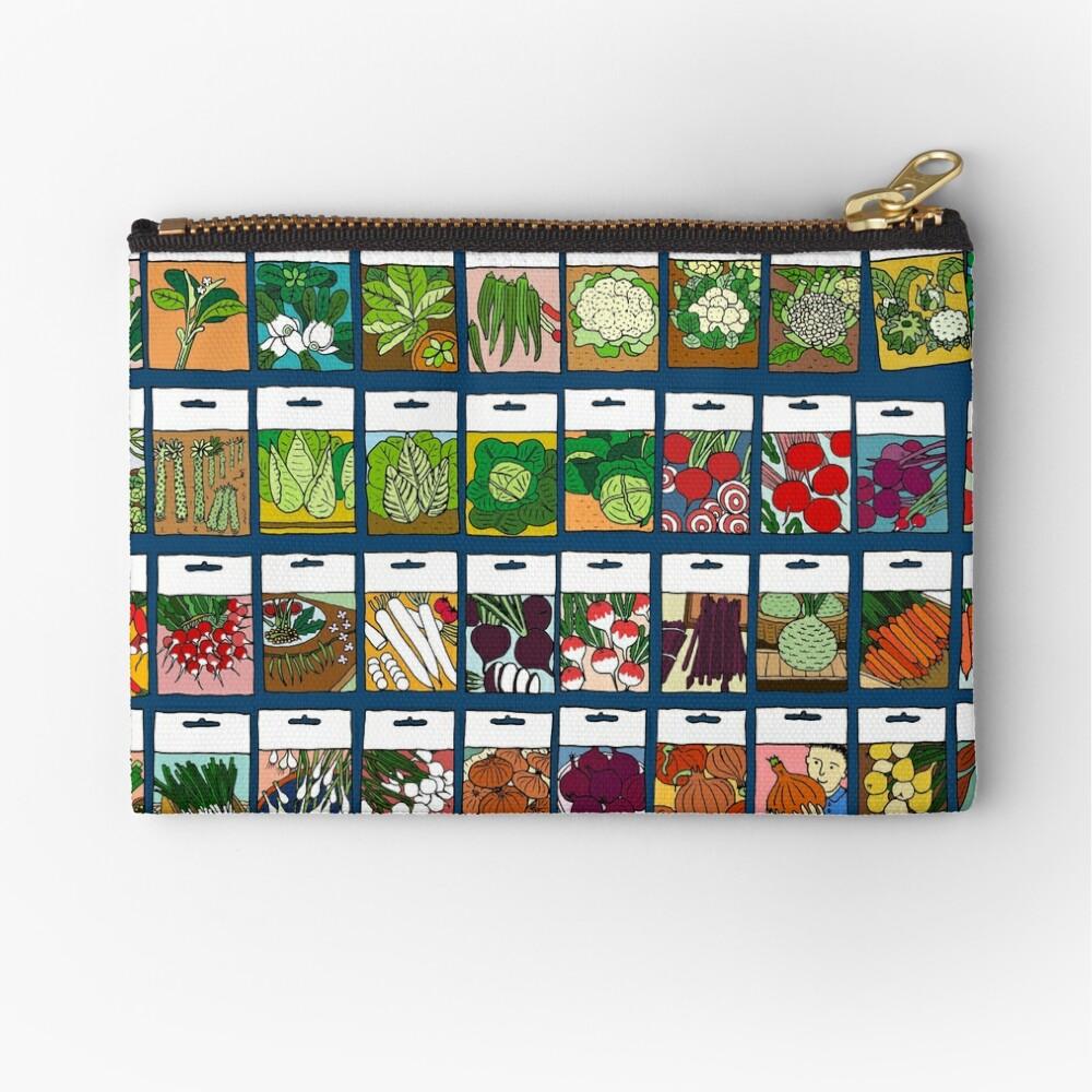 Vegetable seeds pattern Zipper Pouch