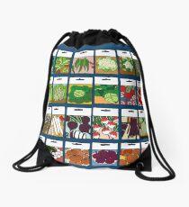 Vegetable seeds pattern Drawstring Bag