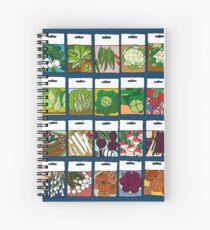 Vegetable seeds pattern Spiral Notebook