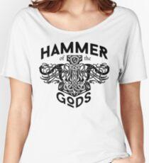 Hammer Of The Gods / Wikinger / Vikings / Schwarz Women's Relaxed Fit T-Shirt