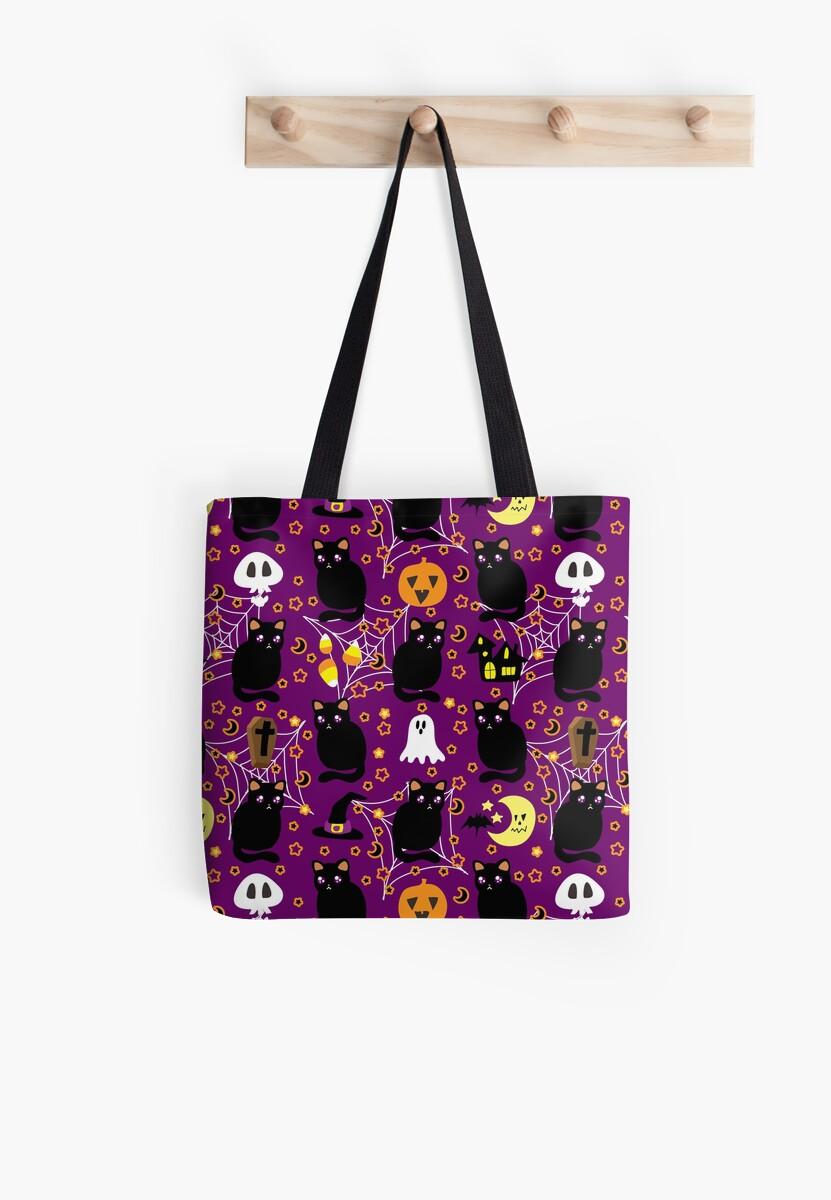 Cute Purple Halloween Pattern by SaradaBoru