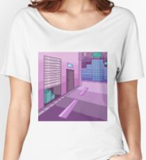 Pixelart - Night in the City Women's Relaxed Fit T-Shirt