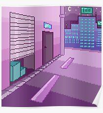 Pixelart - Night in the City Poster