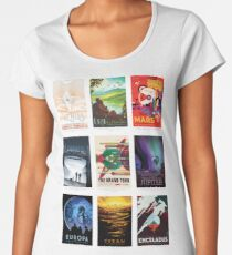 NASA JPL Space Tourism collage: The Grand Tour of the Solar System Women's Premium T-Shirt