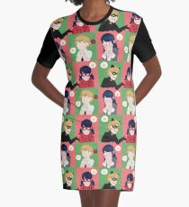 Love Square Graphic T-Shirt Dress
