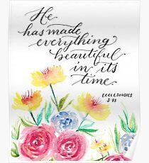 Ecclesiastes 3:11 - Bible Verse Watercolor Poster