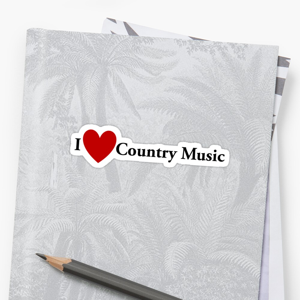 I Heart Country Music by redbubbletom55