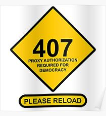 Occupy Movement - 407 Democracy Proxy Authroization Required Please Reload Poster